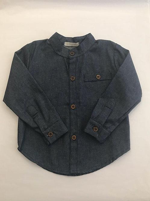 Camisa jeans gola padre