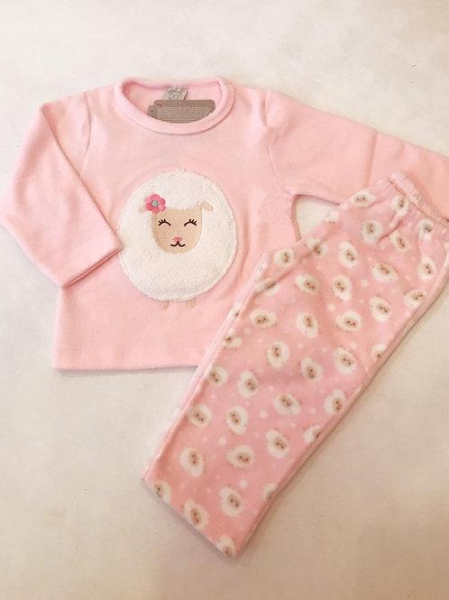 Pijama soft ovelha rosa