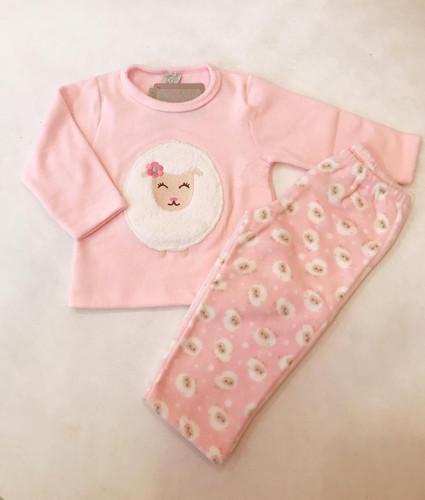 c263bcf737 Pijama soft ovelha rosa