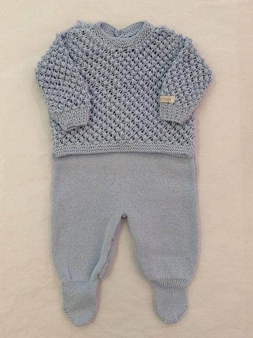 Conj Pipoca azul bebê