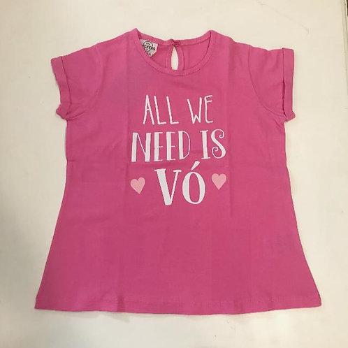Camiseta feminina All we need is vó