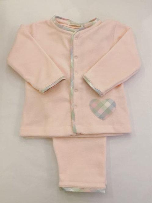 Pijama Microsoft rosa coração