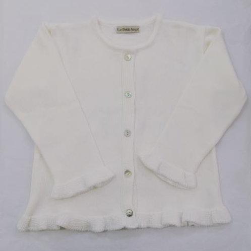 Casaco frufru branco