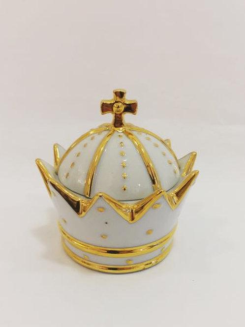 Porta Jóia coroa dourada
