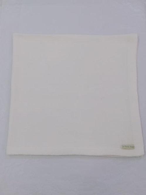 Manta lisa de tricot branca