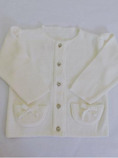 Casaco bolso marfim
