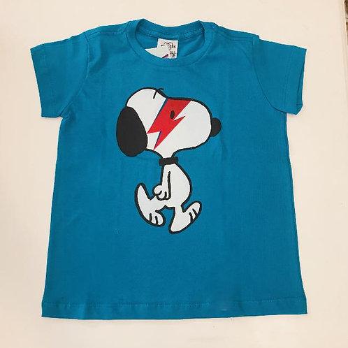 Camiseta masculina Snoopy azul