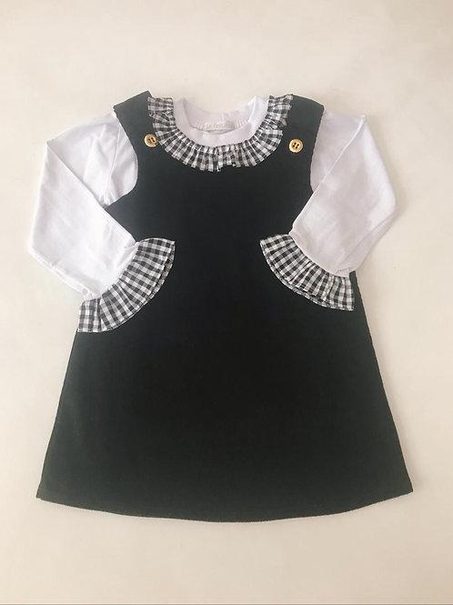 Vestido preto com blusa
