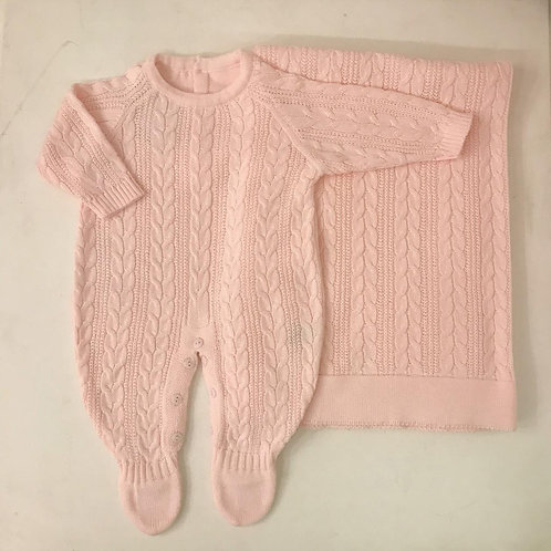 Conjunto Viena rosa com manta
