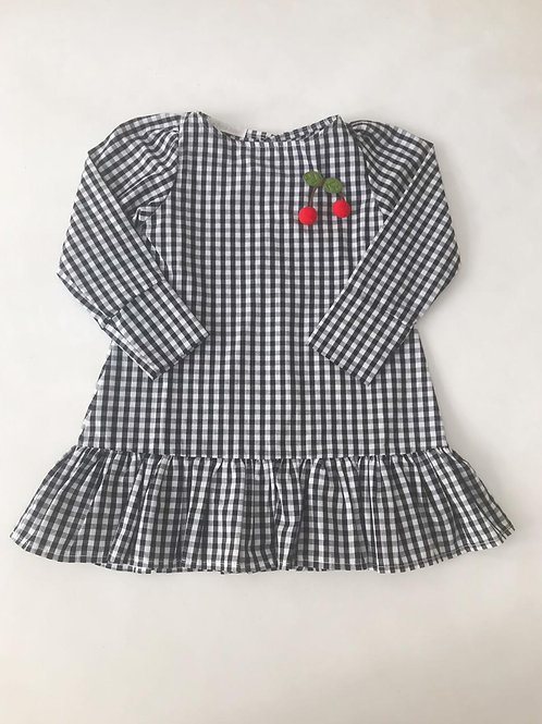 Vestido xadrez cerejinha
