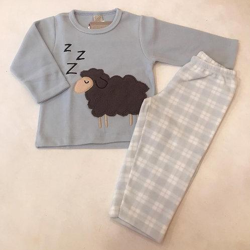 Pijama soft ovelha azul
