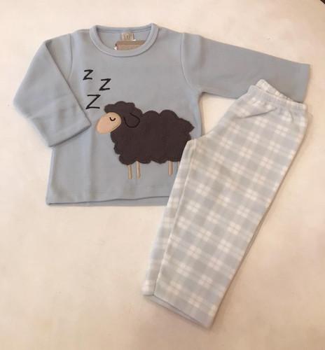 c0eef0d5b1 Pijama soft ovelha azul