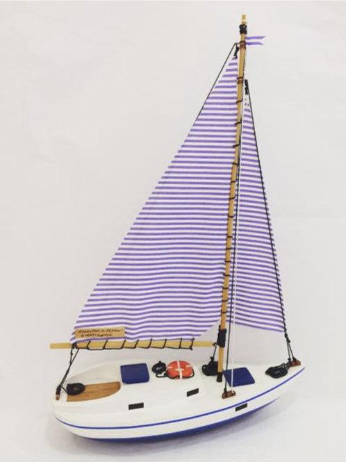 Barco veleiro Azul
