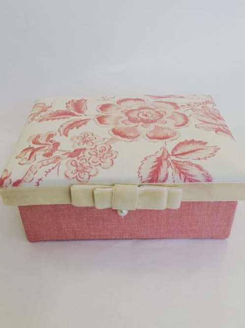Porta jóia floral rosê