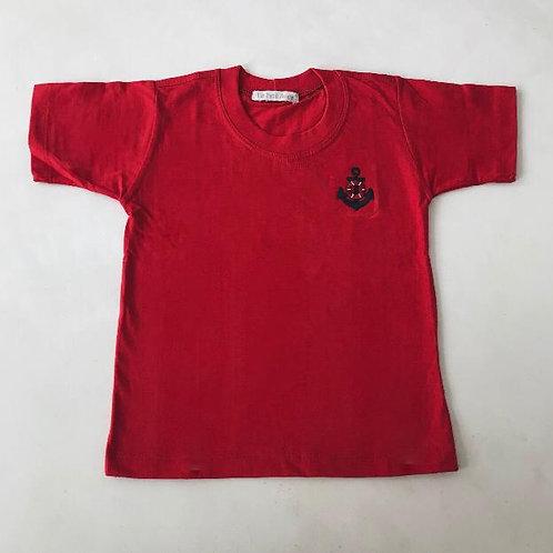 Camiseta vermelha Náutica
