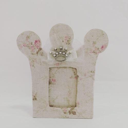 Porta retrato coroa floral