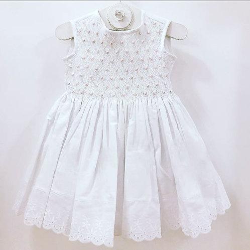 Vestido Rococó branco e rosa