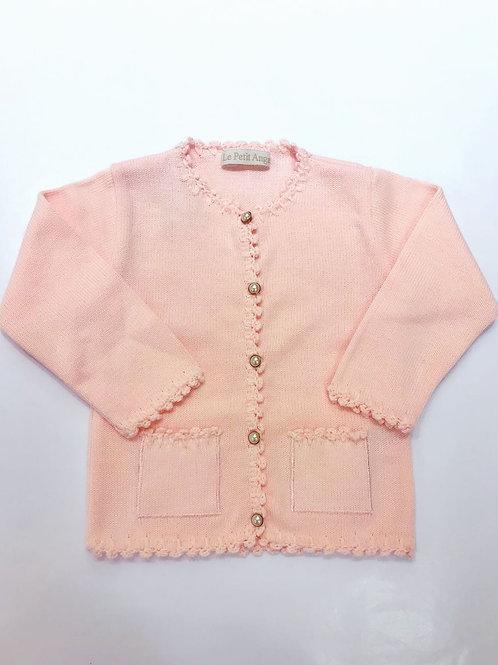 Casaco Angel rosa bebê