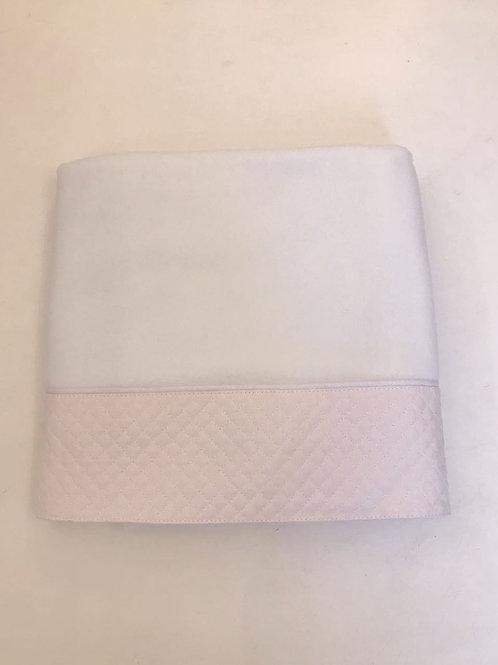 Blanket matelassê rosa bebê
