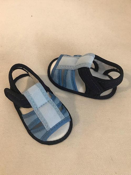Sandália azul e marinho