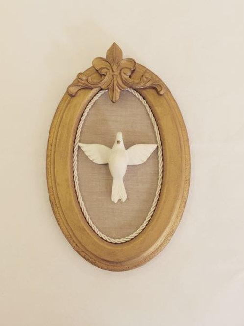 Quadro P oval Espírito Santo com cordão