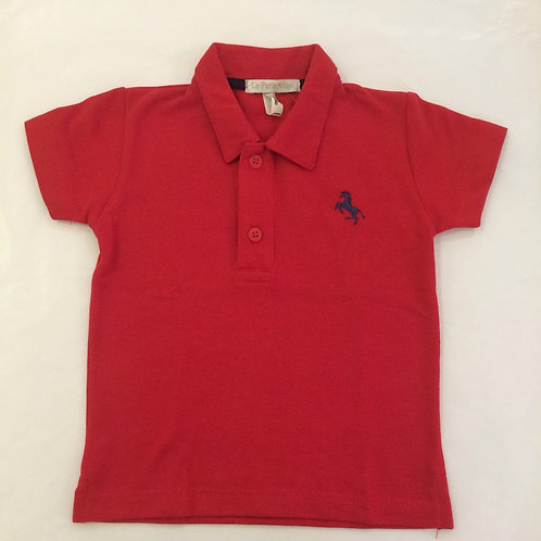 Camiseta Polo vermelha