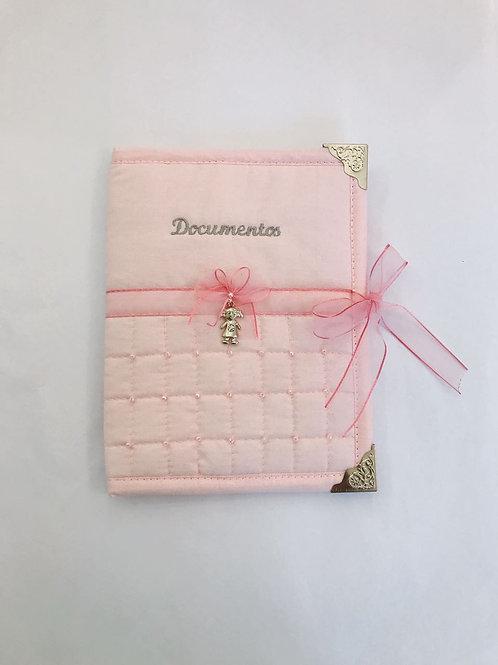 Porta documentos rosa