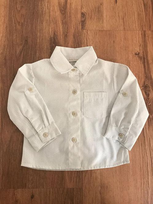 Camisa quadriculada cru e  cinza