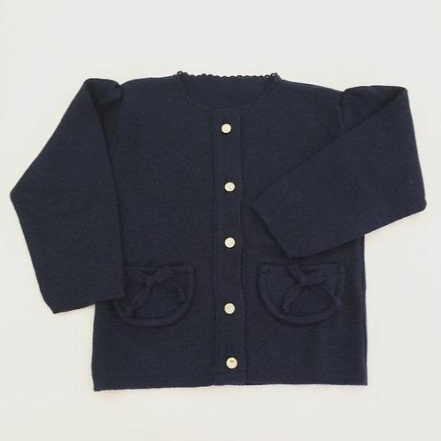 Casaco bolso marinho