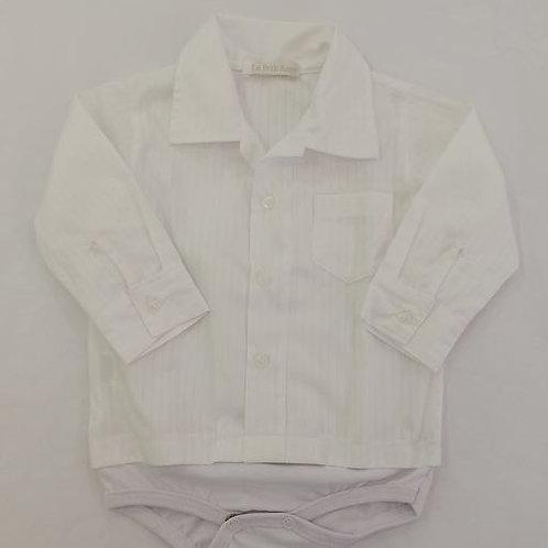 Camisa body branca listrada