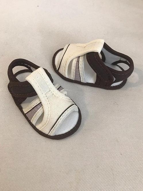 Sandália cru e marrom