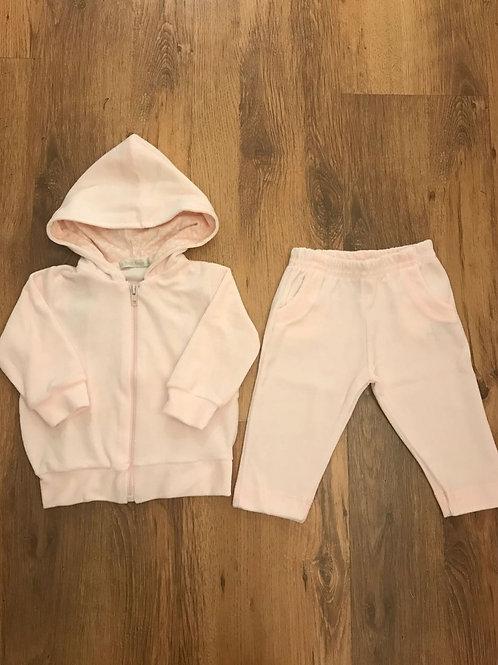 Conjunto plush rosa bebê