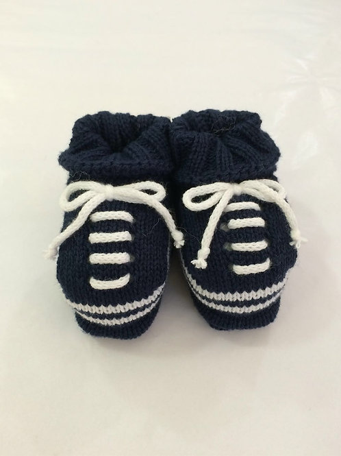 Tênis de tricot marinho