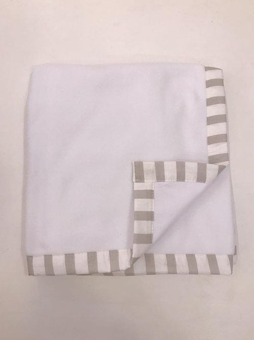 Blanket listrado bege e branco