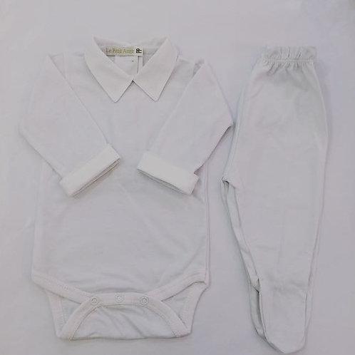 Body e culote gola fustão branco