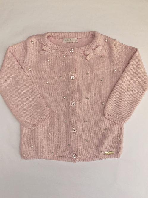 Casaco Maju rosa bebê