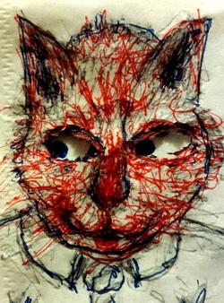 CAT ON NAPKIN