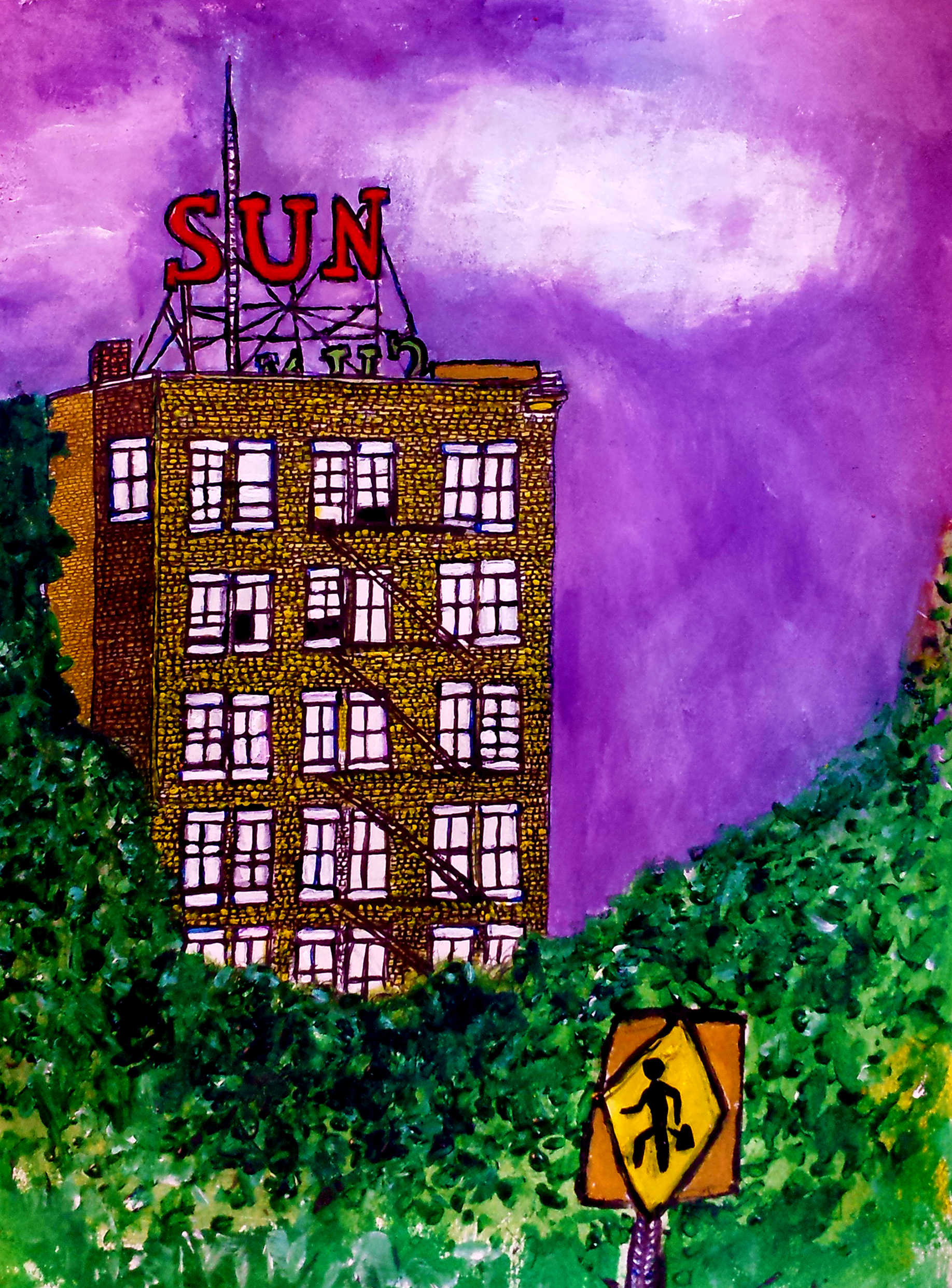 sun building done without signs