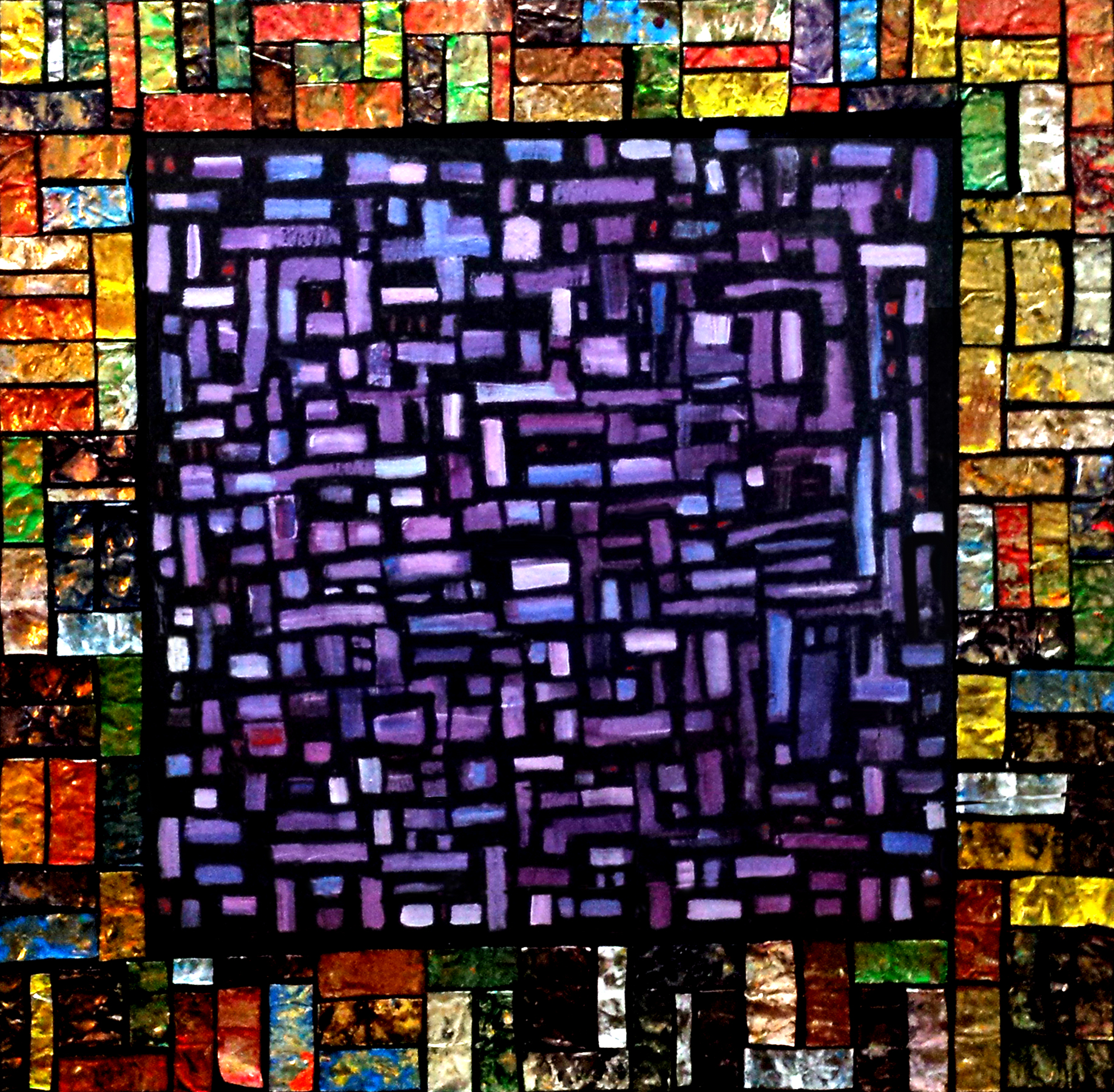 Paint tube Mosaic