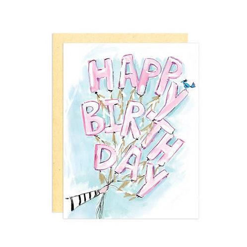 Happy Birthday Balloons by Darling Lemon