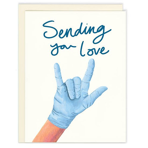 Sending You Love Medical Glove by Good Postage