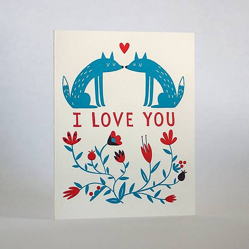 I Love You Foxes by Fugu Fugu Press