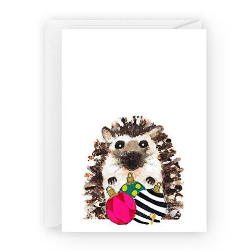 Hedgehog with Ornaments by Claire Jordan