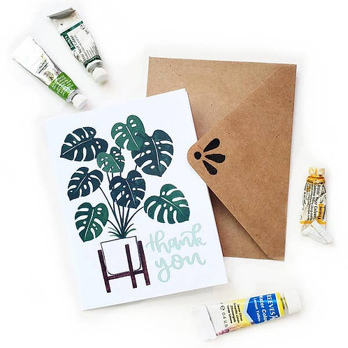 Monstera Plant Thank You by Sketchy Notions