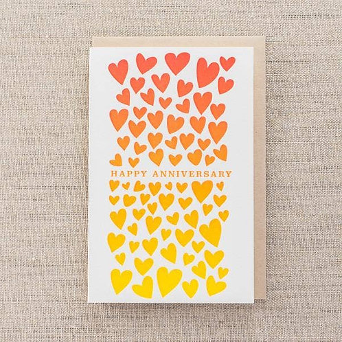 Happy Anniversary Ombre Hearts by Pike St Press