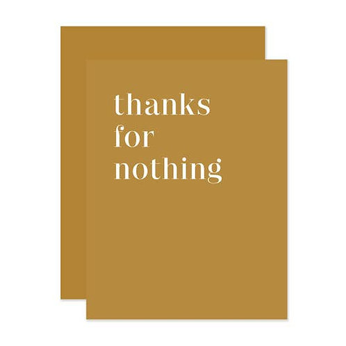 Thanks for nothing By Social Type