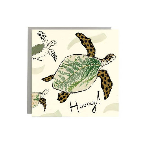 Hooray! A Sea Turtle Card by Anna Wright