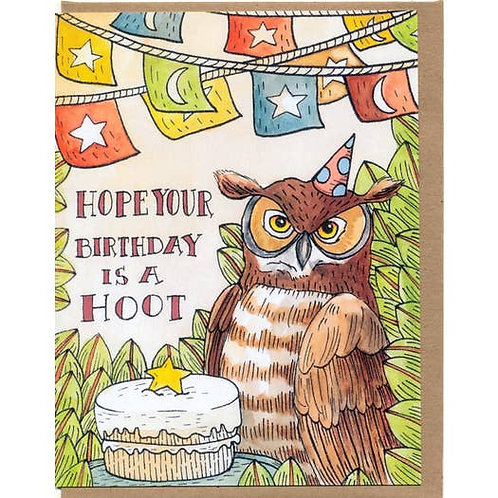 Hope your birthday is a hoot - by Mattea