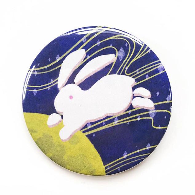 Bunny Button-Original Illustration