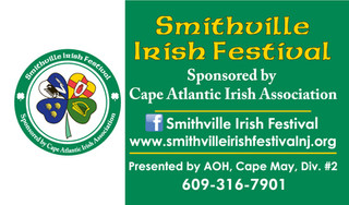 Smithville Irish Festival Business Cards